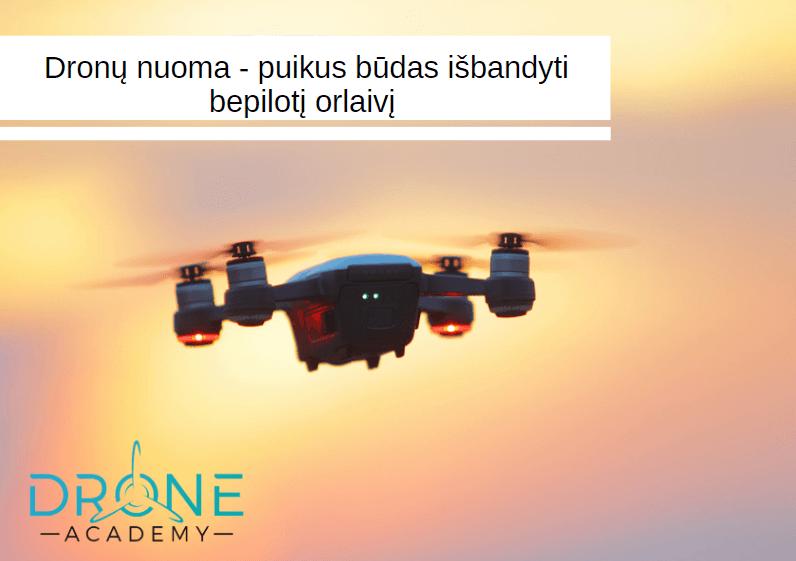 dronu nuoma - straipsnis