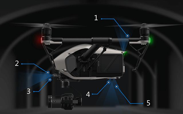 dji inspire 2 drono jutikliai