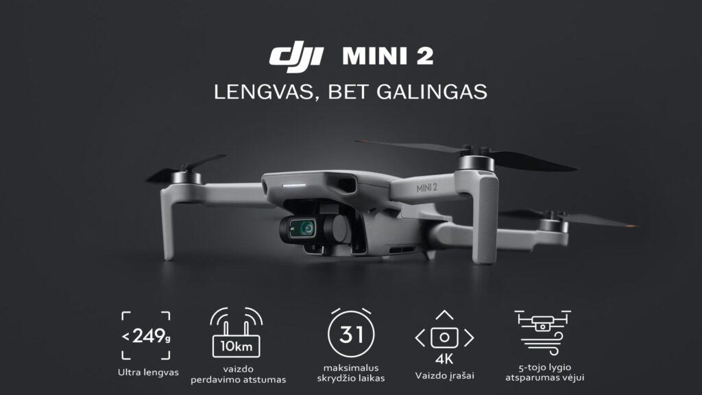 DJI Mini 2 drono galimybes