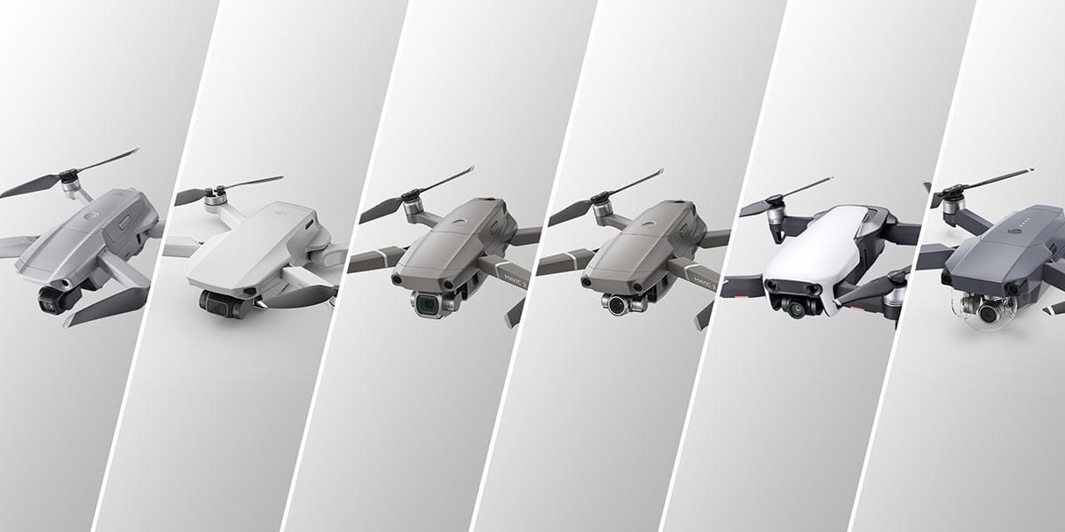 DJI mavic serijos dronų palyginimas