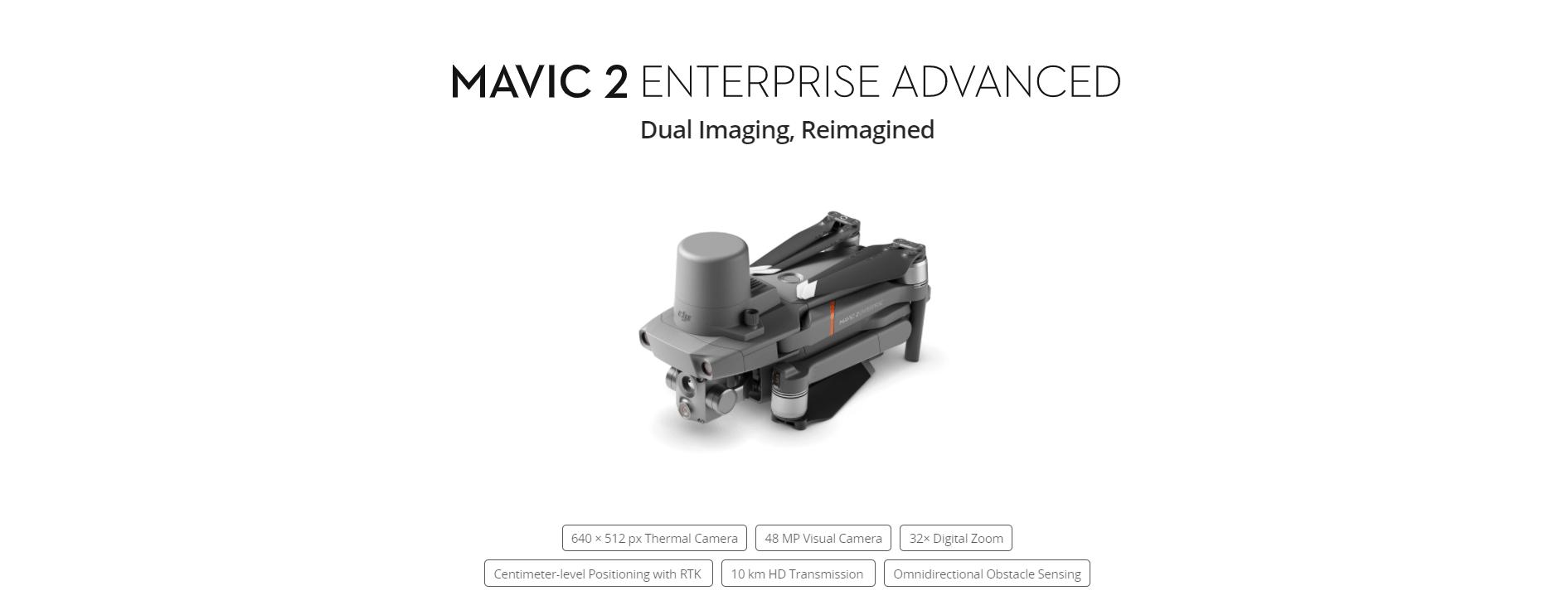Mavic 2 Enterprise Advanced dronas
