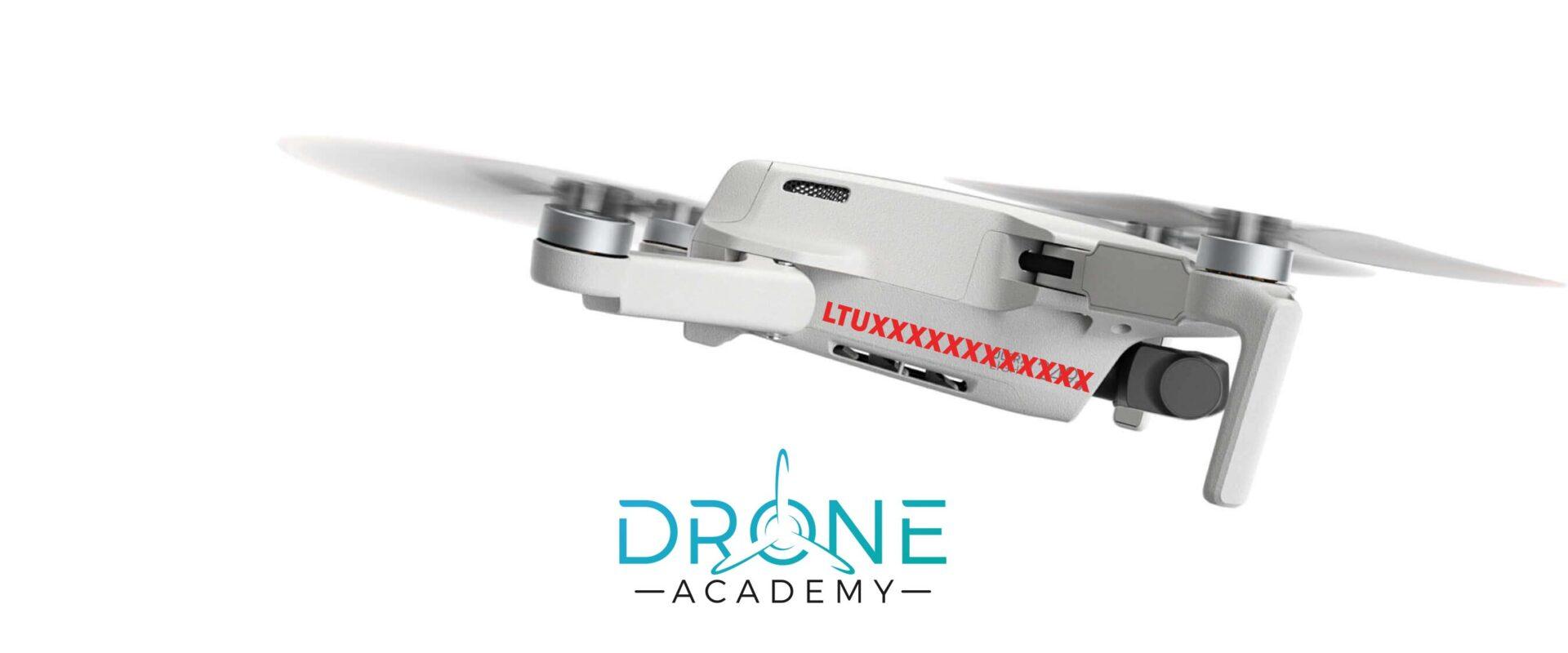 Drono registracija - atvaizdavimas